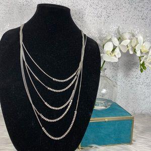 🆕 Simply Vera Wang Silver & Rhinestone Necklace